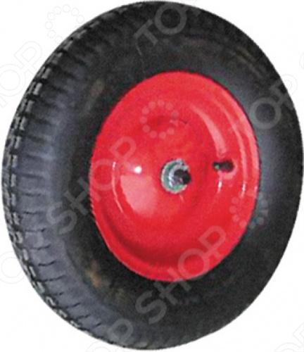 Колесо запасное FIT для тачки 77557 это отличное колесо, диаметром 16 х4 для тачки модели 77567. Колесо с резиновой шиной и камерой, грузоподъемность 160 кг. Есть шариковый стальной подшипник, диск крашенный в красный цвет. В случае, если вы часто используете тачку, лучше иметь запасное колесо, что бы избежать возможных проблем.