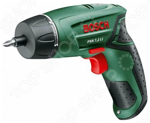 Дрель-шуруповерт аккумуляторная Bosch PSR 7,2 LI аккумуляторная дрель шуруповерт bosch psr 10 8 li 2 0 603 972 926