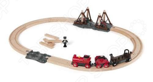 Набор с паровозом и строящимся мостом Brio 33030 конструктор brio вагон с коровой 8 6х3 4х4 8см блист