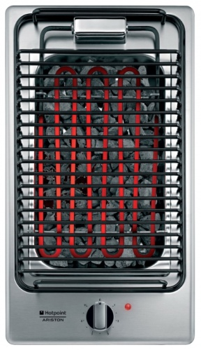 Электробарбекю встраиваемое Hotpoint-Ariston DK B (IX) варочная поверхность rainford rbн 8613 b black