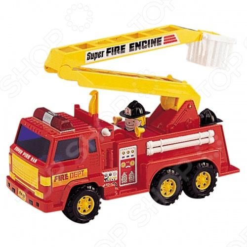 Машинка игрушечная Daesung пожарная - реалистичная, качественно смоделированная копия пожарной машины. Отличная модель для игры как дома, так и на улице с друзьями. Подарите вашему малышу интересную и оригинальную игрушку, которая в свою очередь обеспечит массу удовольствия и веселья.