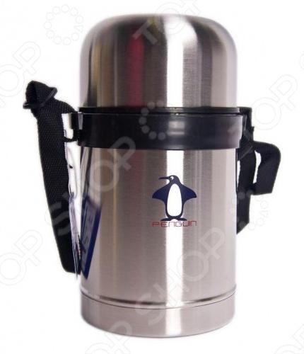Термос Penguin ВК-100Термосы и термокружки<br>Термос Penguin ВК-100 с широким горлом удобен предназначен для сохранения продуктов в холодном или горячем состоянии. Для этого используется двухступенчатая вакуумная система, которая обеспечивает высокую теплоизоляцию изделия. Изготовлен из нержавеющей стали. Удобен для переноски.<br>