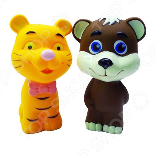 Игрушка для ванны Жирафики «Медвежонок и тигрёнок»
