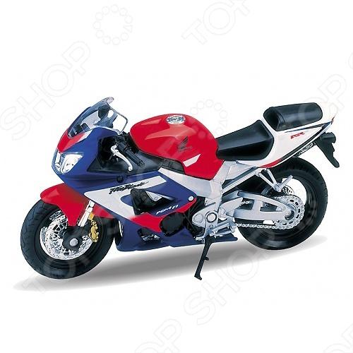 Модель мотоцикла 1:18 Welly Motorcycle/Honda CBR900RR Fireblade. В ассортименте