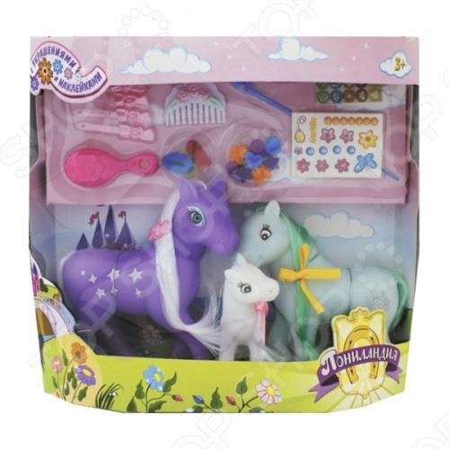 Набор 1 Toy «Семья пони» набор семья коров на пастбище schleich набор семья коров на пастбище