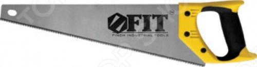 Ножовка по дереву FIT Профи (3D-заточка, каленая, мелкий зуб)Лобзики. Ножовки. Пилы<br>Ножовка по дереву FIT Профи 3D-заточка, каленая, мелкий зуб это отличная ножовка по дереву, которая прекрасно подойдет как для небольших изделий, так и для крупногабаритных работ. Средний каленый зуб с трехгранной заточкой. Эргономическая прорезиненная ручка поможет вам работать долго и без усталости. Материал ножовки: высоко углеродистая сталь.<br>