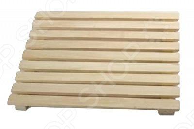 Решетка на пол Банные штучки для бани и сауны изготовлена из липы. Она укладывается на пол в парной. Решетка из липы будет особенно полезна в бане или сауне с кафельным полом.
