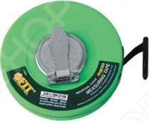 Рулетка FIT с фибергласовой лентой зеленаяРулетки. Мерные ленты<br>Рулетка с фиброглассовой лентой зеленая - лучшее средство для измерения длин и расстояний прямолинейных отрезков и участков. Данная модель обладает высокой жесткостью и износостойкостью. Она практична в применении и точна в измерении в полном соответствии со стандартами. Она незаменима и нужна для решения строительных задач, ремонта или других работ. Основными особенностями данной модели стали: упрочнённый корпус, который предохраняет ее при падении и обеспечивает надежное удержание инструмента, фиброглассовая зеленая лента с четкой разделительной шкалой, которая делает работу приятной и неутомительной.<br>