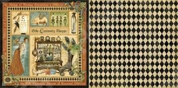 фото Бумага для скрапбукинга двусторонняя Graphic 45 Olde Curiosity Shoppe, купить, цена
