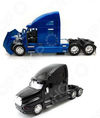Модель автомобиля 1:32 Jada Toys Kenworth T200 TractorМодели авто<br>Товар продается в ассортименте. Цвета товара при комплектации заказа зависит от наличия товарного ассортимента на складе. Модель автомобиля 1:32 Jada Toys Kenwoth T200 Tractor - это миниатюрная 1:32 , отлично смоделированная копия оригинального тягача Kenwoth T200 Tractor, с уникальным видом и хорошей детализацией, который подарит вашему малышу небывалую радость и веселье при игре, познакомит с изысками автомобильной продукции. Машинка подарит ребенку приятное времяпрепровождение и не заставит его скучать. Отличный вариант для пополнения коллекции качественных игрушек. Цвета в ассортименте.<br>