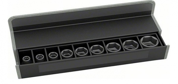 Набор головок для торцевых ключей Bosch 2608551097 набор сменных головок и насадок topex 38d669