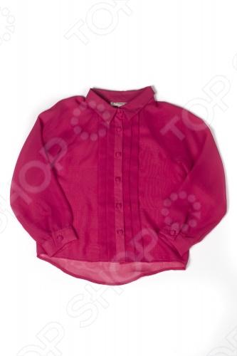 Блуза детская для девочки Appaman Breezy Blouse. Цвет: фуксияДетские блузы<br>Блуза Appaman Breezy Blouse для юной модницы. Модель из прозрачного материала с отложным воротничком и длинными рукавами прекрасно подойдет вашей малышке для ежедневных прогулок. Блуза декорирована вертикальными складками и снабжена пуговицами по всей длине. Она практична и не деформируется после стирки. Изделие выполнено из 100 полиэстера.<br>