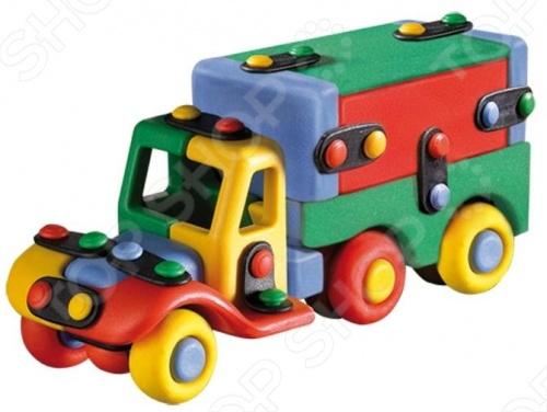 Конструктор игровой Mic-o-mic Грузовичок малый оригинальный, подарочный комплект, состоящий из множества деталей разнообразной формы, который даст возможность познакомить малыша с техникой. С помощью элементов этого конструктора можно собрать грузовик с фургоном. Состоит из креплений и других частей, которые легко соединяются между собой. Детский конструктор является достаточно практичным учебным пособием, так как он развивает память, мышление, логику, фантазию, а также моторику рук. Сборка конструктора подарит ребенку массу удовольствия и приятное времяпрепровождение.
