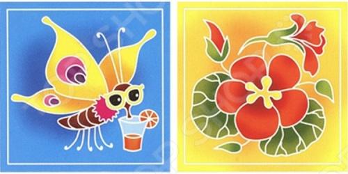 Набор для росписи ткани RTO BK-025/026Роспись по ткани<br>Набор для росписи ткани RTO BK-025 026 - эксклюзивный продукт на российском рынке. По контуру изображения нанесен воск, благодаря чему краски не растекаются, а рисунок быстро приобретает нужные очертания. В набор входят два отреза ткани с контурным рисунком, картонный каркас с креплением из самоклеющейся ленты, кисть для рисования, три сухие краски для разведения водой:красная, желтая, синяя, фиксатор краски. Набор упакован в прозрачный пакет, в комплект входит подробная иллюстрированная инструкция.<br>