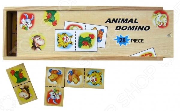 Домино MAXI ADEX «Животные»Домино<br>Домино - игра появившаяся в древнем Китае и Индии до сих пор пользуется большой популярностью, как среди взрослых, так и среди детей разной возрастной категории. Домино MAXI ADEX Животные - станет интересным и полезным подарком для ребенка. Игра в домино развивает в ребенке внимательность и наблюдательность, а так же способствует развитию ассоциативного и логического мышления. Так же не стоит забывать о том, что игра в домино - это отличная возможность родителям интересно и с пользой провести время с ребенком, ведь совместная деятельность крайне положительно сказывается на общем развитии детей. Игра выполнена из экологически чистых материалов, поэтому является абсолютно безопасной для ребенка. В набор входит 28 элементов.<br>