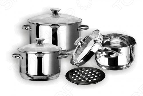 Набор кастрюль Vitesse Abby кастрюля с крышкой сковородой vitesse ferro