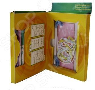 Набор для создания браслета Crayola Дружба отличный подарок для вашей малышки. С такой игрушкой ребенок сможет создавать оригинальные и необычные браслетики для себя и своих друзей. Удобная упаковка для хранения поможет не потерять бусинки. В комплект входят: 1 лоток для элементов набора 12, х9 см , 2 мотка веревки, 2 ленты, 6 бусинок в виде цветка, 5 бусинок в виде сердца. Набор для создания браслета Crayola Дружба сделает досуг вашей малышки более интересным, занимательным и развивающим.