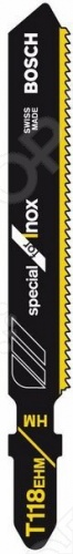 Набор пилок для лобзика Bosch T 118 ЕНМ HM пилки для лобзика по металлу для прямых пропилов bosch t118a 1 3 мм 5 шт