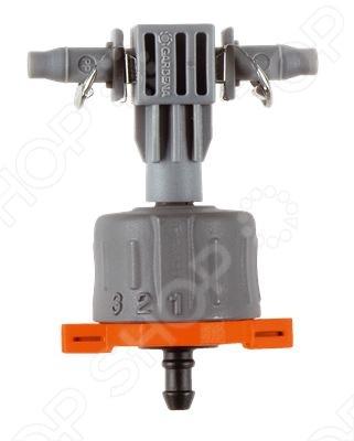 Капельница внутренняя Gardena 8317 специальный соединитель системы микрокапельного полива Micro-Drip-System, предназначенный для полива растений посаженных в один ряд. Регулируемая капельница, уравнивающая давление, вставляется как и в подающий шланг, диаметром 3 16 дюйма, так и напрямую в магистральный шланг. Расход воды в общем составляет около 1 до 8 литров в час. Отличное решение проблем с водоснабжением вашего сада и эффективного сбережения свободного пространства. Предоставляется вместе с заглушкой.