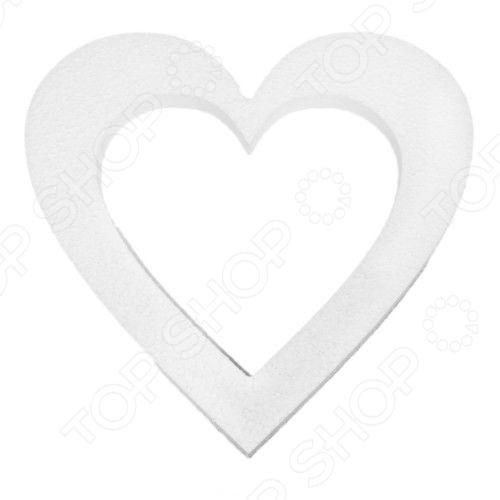 Заготовка из пенопласта Кустарь Сердце-венокПенопластовые заготовки<br>Заготовка из пенопласта Кустарь Сердце-венок используется в качестве основы для последующего декорирования. Для декорирования можно использовать различные техники: декупажа, квиллинга, бисероплетения и другие. В результате у вас получится оригинальный элемент декора помещения, который украсит ваш дом или офис, а также станет отличным подарком друзьям или коллегам по работе. При декупаже пенопластовой заготовки ее обязательно следует загрунтовать. Благодаря грунту заготовка не будет деформироваться и впитывать краску. Пенопластовые заготовки нельзя грунтовать ПВА.<br>