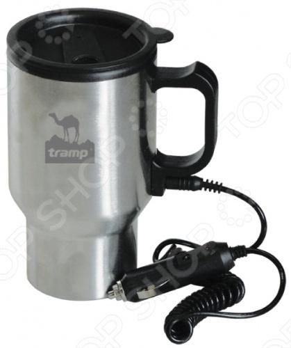 Автокружка с подогревом Tramp TRC-005Все для чая и кофе<br>Автокружка Tramp TRC-005 способна сохранять жидкость теплой, пока подключена к прикуривателю. Изготовленная из термостойкого пластика. Крышка-поилка предохраняет от проливания жидкости и не дает напитку остыть. Из кружки легко пить во время поездки на автомобиле или поезде.<br>