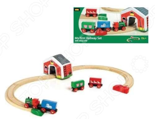 фото Железная дорога Brio «Мой первый паровозик с мягким туннелем» 33703, Железные дороги