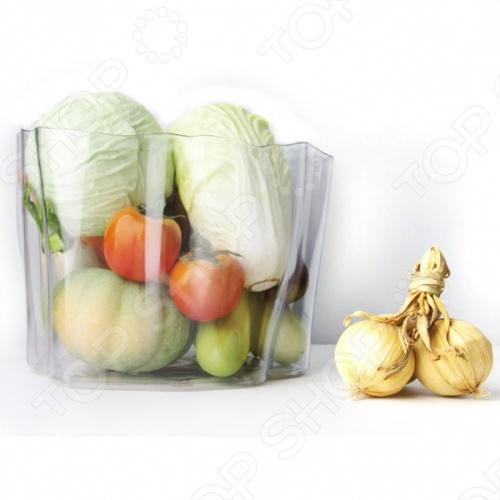 Органайзер Qualy Flow незаменим в домашнем хозяйстве и станет отличным дополнением к набору ваших бытовых принадлежностей. Изделие весьма универсально и многофункционально, пригодится для хранения фруктов, овощей кухонных приборов, различных аксессуаров, всевозможных баночек и т.д. Помимо этого, органайзер можно использовать в качестве вазы для цветов или мусорной корзины. Изделие выполнено из высококачественного ударопрочного пластика, компактно и практично в использовании.