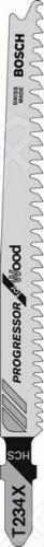 Набор пилок для лобзика Bosch T 234 X HCS набор пилок для лобзика bosch t 744 d hcs
