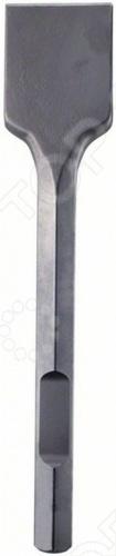 Зубило лопаточное Bosch 1618661000 представляет собой инструмент с плоским рабочим профилем в форме лопатки, который применяется с перфоратором для удаления плитки и штукатурки.