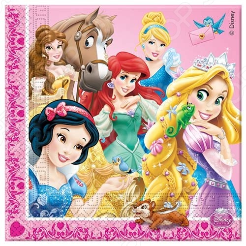 Салфетки детские Procos «Принцессы и животные»