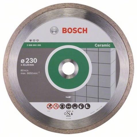 Диск отрезной алмазный для угловых шлифмашин Bosch Professional for Ceramic диск отрезной алмазный турбо 115х22 2mm 20006 ottom 115x22 2mm