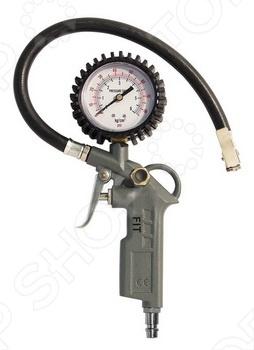 Пистолет с манометром FIT 81047 предназначен для измерения и контроля давления при подаче воздуха. Измерительная шкала до 6 атмосфер и имеет шаг равный 0.1 атмосфер. Используется быстросъемное соединение. Диаметр выходного отверстия ниппель 1 4 . Манометр расположен продольно. Пистолет изготовлен из алюминия.