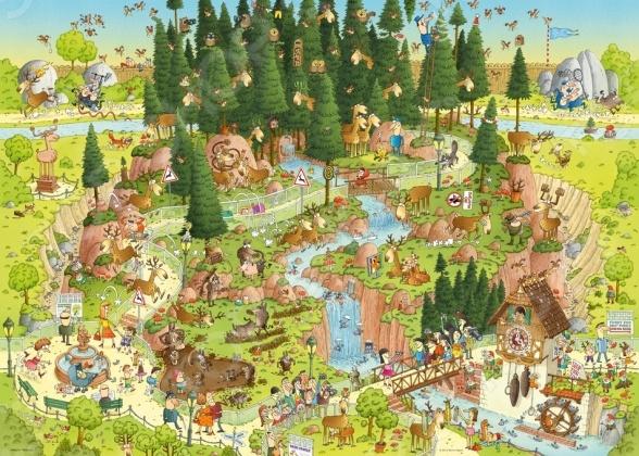 Настольная игра Лесной зоопарк, 1000 деталей