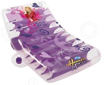 Шезлонг надувной Mondo «Hannah Montana»Другие надувные товары и аксессуары<br>Шезлонг надувной Mondo Hannah Montana отличный подарок для вашего малыша. Наличие удобного подстаканника, который находится под рукой, поможет утолить жажду вкусным коктейлем в жаркий день. Надувной мотоцикл выполнен в сиреневых тонах с изображениями Hannah Montana. Шезлонг надувной Mondo Hannah Montana сделает водные прогулки любимым занятием вашей малышки.<br>
