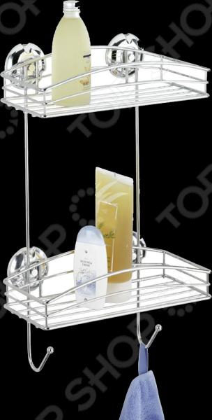Полка для ванной Wenko 16767100 имеет 2 яруса, удобная и практичная модель, которая идеально подходит для хранения различных ванных принадлежностей, оставляя свободной раковину и ванну. Благодаря запатентованной системе крепления Super-Loc, которая основана на принципе присоски, полку можно самостоятельно крепить на любые гладкие поверхности и, при необходимости, без последствий демонтировать. Модель выполнена из качественных и прочных материалов, что значительно продлевает срок ее службы.