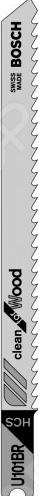 Набор пильных полотен Bosch U101BR HCSНожовочные полотна<br>Полотно пильное Bosch U101BR HCS предназначено для распиловочных работ по древесине с помощью электрического лобзика. Для большей эффективности имеет разведенные зубья с шагом 2,5 мм. Рабочая длина составляет 82 мм. Изготовлено из качественной высокоуглеродистой стали, поэтому не подвержено коррозии и прослужит долго.<br>