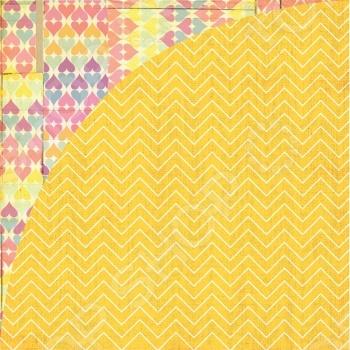 фото Бумага для скрапбукинга двусторонняя Basic Grey Yellow Umbrella, купить, цена