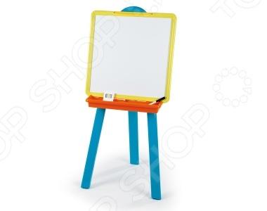 Товар продается в ассортименте. Цвет изделия зависит от товарного ассортимента на складе. Мольберт Smoby двухсторонний 28050 это отличный подарок ребенку. Особенно его оценят юные любители рисования. У мольберта есть 2 доски грифельная и магнитная. На грифельной доске можно рисовать мелками, писать и решать задачки. На магнитной стороне можно рисовать маркером или фломастером, ведь они потом легко стираются влажной губкой. А еще можно прикрепить магнитиком листик и рисовать красками как настоящие художники. К мольберту крепится удобный и вместительный лоточек, где можно хранить различные принадлежности для рисования.
