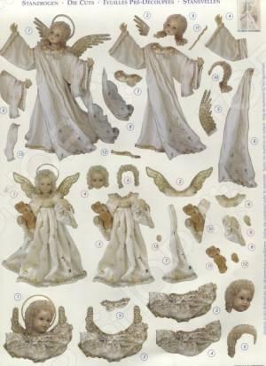 фото Аппликация вырубная для объемных рисунков Reddy Creative Cards «Золотой ангел» №1, купить, цена