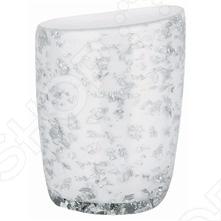 Стакан Spirella ETNA GLITTERАксессуары для ванной комнаты<br>Стакан Spirella ETNA GLITTER это прекрасный аксессуар в вашу ванную комнату. Благодаря такой вещице зубные щетки всегда будут на месте в этом красивом и стильном стакане. Стакан выполнен из керамики. Керамика безопасна, надежна и долговечна, потому стакан сохранит свой внешний вид надолго. Кроме того, изделия из керамики смотрятся стильно и всегда на пике моды. Данная модель создаст особую атмосферу уюта и обеспечит максимальный комфорт в ванной комнате. Размер - 9,0 x 12,5 см.<br>