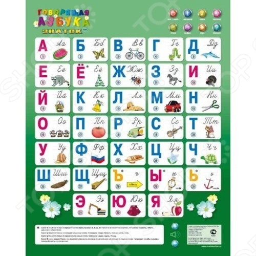 Плакат электронный Знаток «Говорящая Азбука» 8 режимов знаток электронный звуковой плакат говорящая азбука
