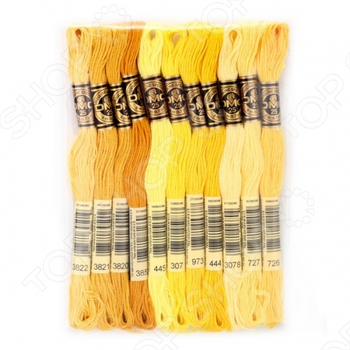 Набор мулине DMC №29Наборы мулине<br>Набор мулине DMC 29 станет настоящим подарком для любой рукодельницы. Набор состоит из 11 моточков. 1 моток содержит пасму из 6 ниточек длиной 8 метров. Цветовая гамма различна, так что цветовая сторона полностью зависит от вашей фантазии.<br>