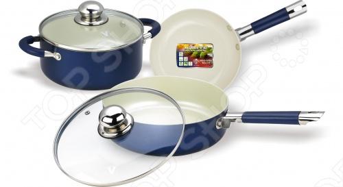 Набор кухонной посуды c внутренним керамическим покрытием Vitesse VS-2223