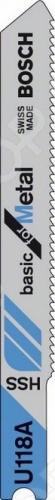 Набор пилок для лобзика Bosch U 118A HSS