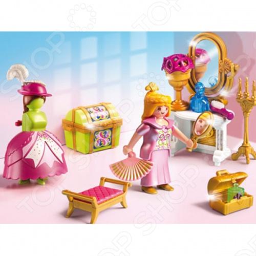Сказочный дворец:Королевская гардеробная комната Playmobil 5148pm станет великолепной игрушкой для ваших детей, которая доставит им огромное количество радостных минут и мгновений. Вас и всех окружающих, без сомнения, порадуют весёлые детские возгласы, во время интересной игры, а яркие, разнообразные цвета будут способствовать развитию у малыша чувства восприятия звука и цвета, и, что немаловажно, развитию моторики, координации движения, логику малыша. Позвольте ребёнку создать свой мир и наполнить его именно теми персонажами и элементами, которые ему больше всего нравятся. Подарите малышу радость игры в королеву.