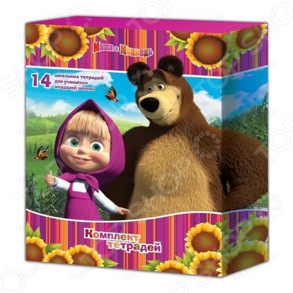 Комплект тетрадей Маша и Медведь 21472