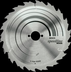 Диск отрезной для ручных циркулярных пил Bosch Speedline Wood 2608640795 диск отрезной для торцовочных пил bosch optiline wood 2608640432