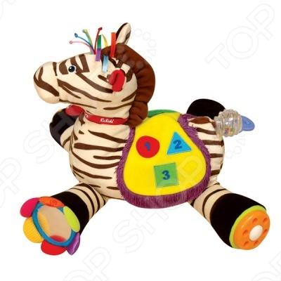 Развивающий центр Райан 18 станет замечательным подарком для вашего малыша. Игрушка шуршит, пищит, гремит и это еще не все. Мягкая зебра Райан поможет развлечь и развить малыша множеством игровых элементов. Благодаря Райну дети смогут развивать тактильные ощущения, моторику, цветовое восприятие. Играть с Райном не только познавательно, но и интересно, ведь на нём можно сидеть сверху, как на лошадке. Игрушка Райан станет настоящим другом вашему малышу.