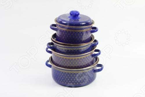 Набор посуды Эмаль Индийский