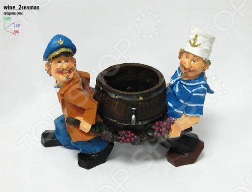 Подставка для вина Drivemotion Моряки несут бутылку в бочке